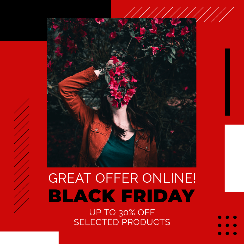 Instagram Post Maker for a Black Friday Online Offer 3030h
