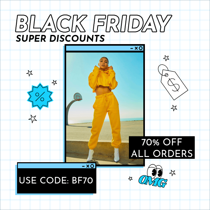 Black Friday-Themed Instagram Post Maker with a Grid Background 3029g