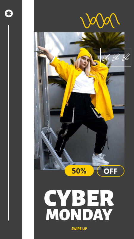 Instagram Story Generator for a Store's Cyber Monday Discount 3015c-el1