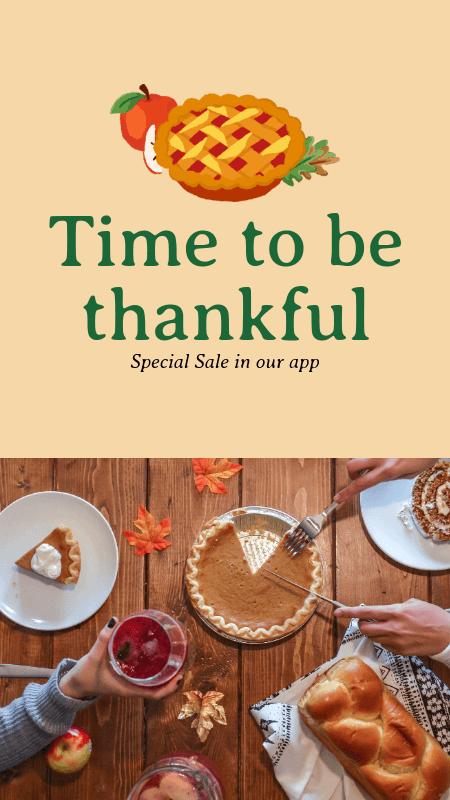 Instagram Story Maker for an App's Thanksgiving Sale 3039d