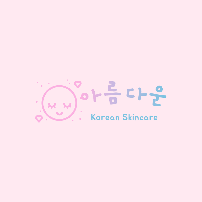 Beauty Logo Template Featuring Korean Characters and a Cute Aesthetic 3730d
