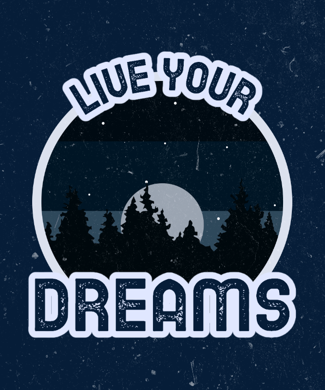 Outdoorsy T-Shirt Design Template with an Illustration of the Night Sky 3044e