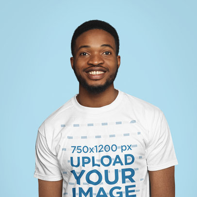 T-Shirt Mockup of a Man Doing a Plain Pose in a Studio 39705-r-el2