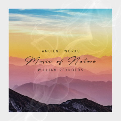 Album Cover Maker for Ambient Music Featuring a Beautiful Landscape 3061a