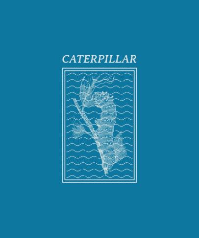 T-Shirt Design Maker Featuring a Caterpillar Clipart 3098e-el1