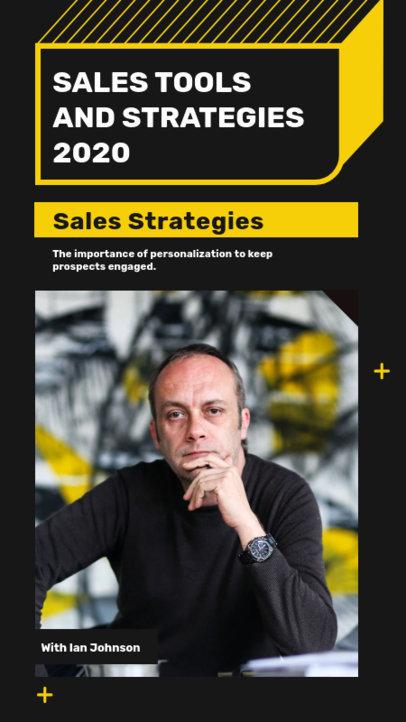 Instagram Story Maker for a Sales Conference Ad 3060c-el1