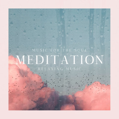 Cover Template for a Meditation Music Album 3061b
