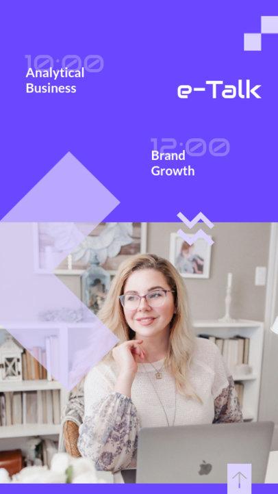 Instagram Story Maker for an Analytical Business e-Talk 3062c-el1