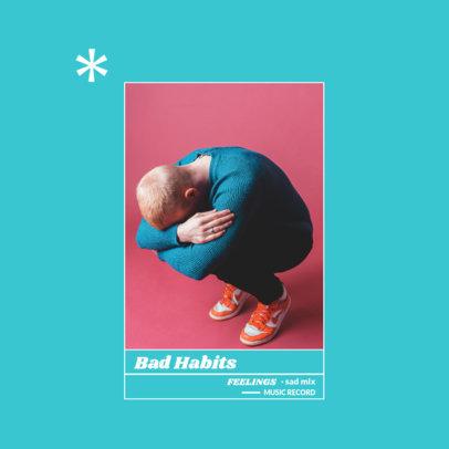 Pop Album Cover Template with a Pastel Color Palette Design 3080a-el1