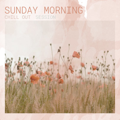 Chill-Out Album Cover Generator Featuring a Pastel Color Palette Design 3062b