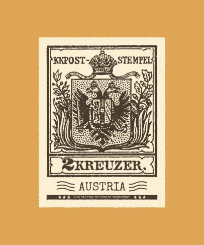 Illustrated T-Shirt Design Creator with Vintage Stamps 3090b-el1