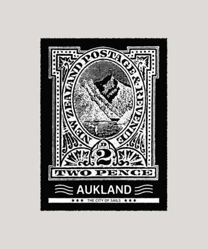 T-Shirt Design Generator with Illustrated Vintage Stamps 3090c-el1