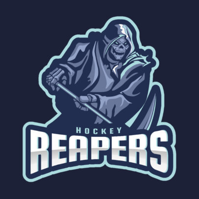 Sports Logo Maker for a Hockey Team with a Death Graphic 1560k-2859