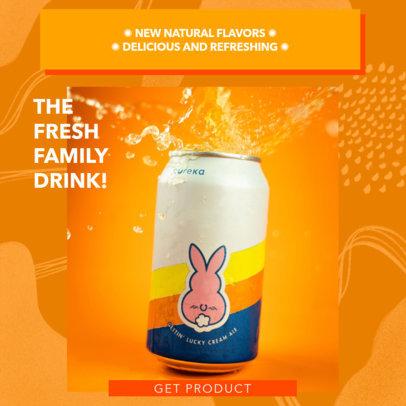Instagram Post Maker for a Network Marketing Enterprise Selling Natural Beverages 3065e