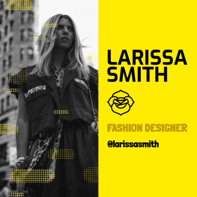 Instagram Post Maker for a Fashion Designer's Creative Resume 3068c