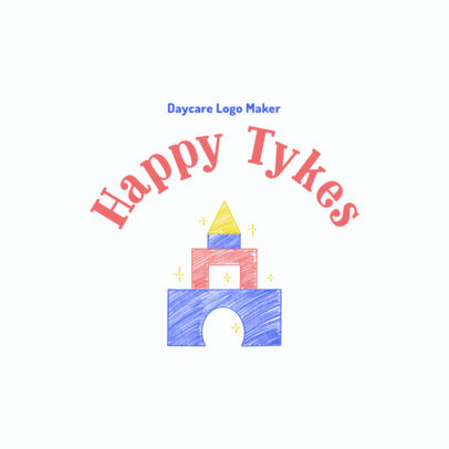 Daycare Logo Generator Featuring a Graphic of a Toy Castle 3763b
