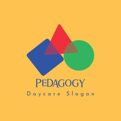 Daycare Logo Creator Featuring Geometric Figures 3764b