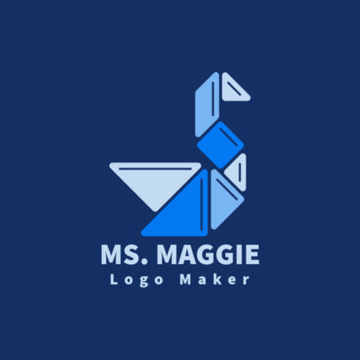 Daycare Logo Maker with an Abstract Origami Graphic 3764d