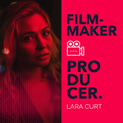 Instagram Post Maker Featuring a Freelancer Filmmaker's Portfolio Cover 3068f