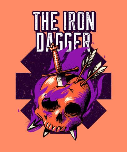 T-Shirt Design Template for a Metal Music Fanatic 3070b