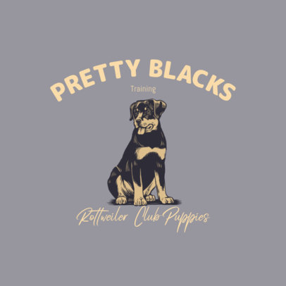 Dog Club Logo Generator with a Rottweiler Illustration 3776f