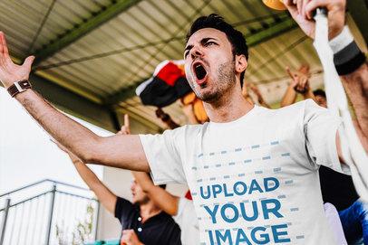 T-Shirt Mockup of a Man at a Soccer Match 43809-r-el2