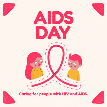 Instagram Post Template for World AIDS Day 3098