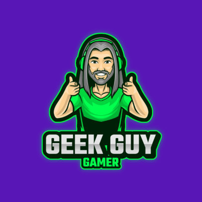 Logo Maker Featuring a Gamer with Thumbs Up 3120a-el1