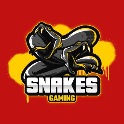 Gaming Logo Creator Featuring Two Dark Snakes 3122b-el1