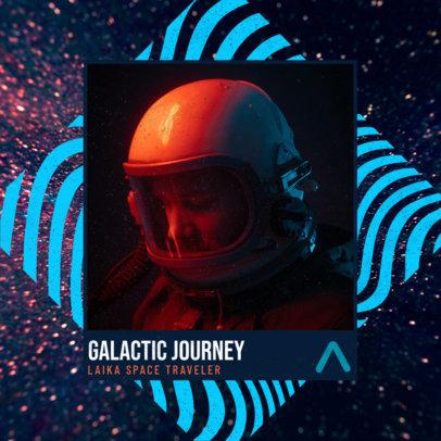Album Cover Design Template for a Future Bass EP 3093I
