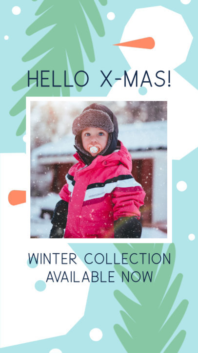 Christmas-Themed Instagram Story Maker for a Kids' Clothing Brand 3085e