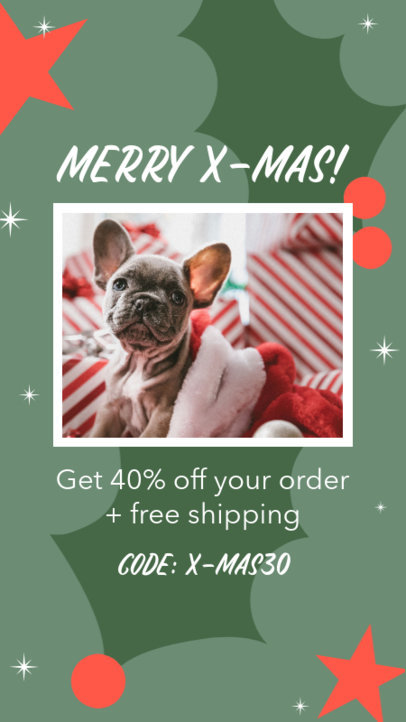 Instagram Story Maker for a Pets Store X-Mas Sale 3085c