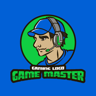 Logo Generator with an Illustration of a Male Gamer 3118b-el1