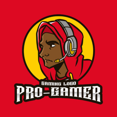 Logo Creator Featuring an Illustration of a Professional Male Gamer 3118c-el1