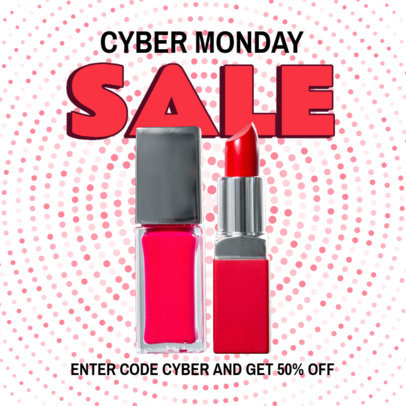 Instagram Post Template for a Beauty Products Cyber Monday Special Sale 3100d