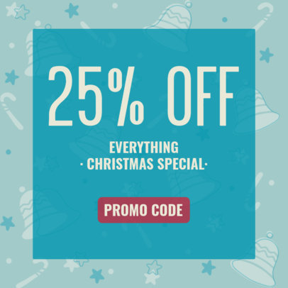 Ad Banner Template for a Christmas Special Discount Featuring an Illustrated Background 3088f