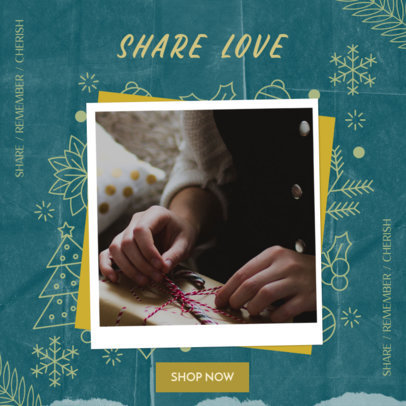 Customizable Instagram Post Maker for a Store's Christmas Sale 3086b