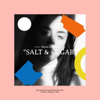 Album Cover Design Creator for a Pop Singer's EP 3106d-el1