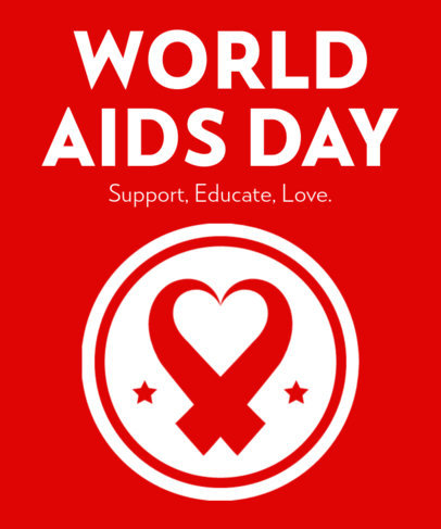 T-Shirt Design Generator to Commemorate World AIDS Day 3097f