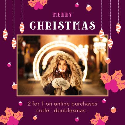 Instagram Post Maker for a Christmas Online Purchase 3087e