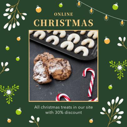 Instagram Post Maker for an Online Christmas Sale 3087c