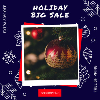 Christmas-Themed Instagram Post Maker for a Store's Holiday Sale 3086g