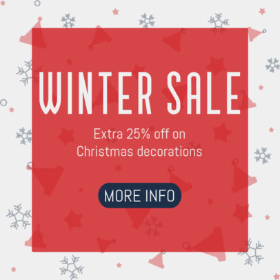 Ad Banner Maker for a Winter Sale Announcement 3088e