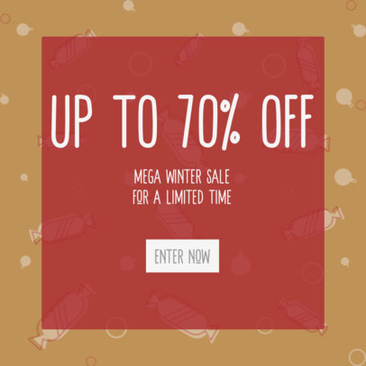 Christmas-Themed Ad Banner Maker for a Mega Sale 3088c