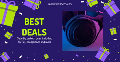 Holiday-Themed Facebook Post Creator for Tech Deals 3089e