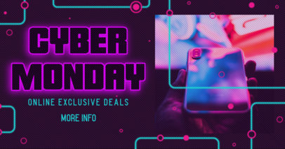 Facebook Post Maker for a Cyber Monday Promotion Ad 3102d