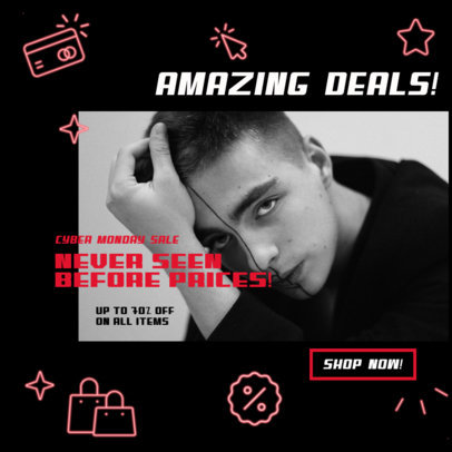 Online Ad Banner Maker for Amazing Deals of a Clothing Store 3101d