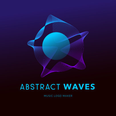 Music Logo Generator Featuring Abstract Wavy Graphics 3785b