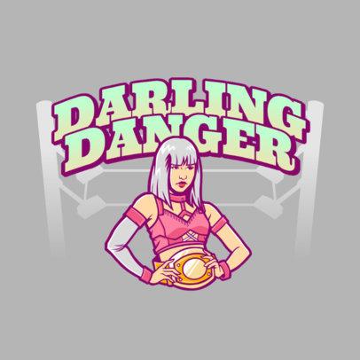 Online Logo Maker Featuring Female Wrestlers 3608