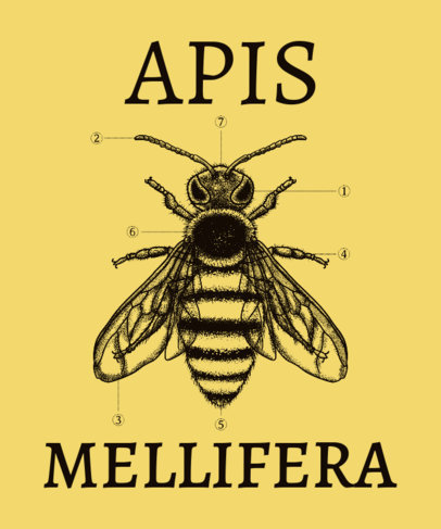 T-Shirt Design Creator Featuring the Morphology of a Bee 3122b